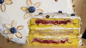 """Piecaken"" 3 Vegan Pies Inside of a Cake"