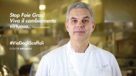 Lo chef Pietro Leemann contro il Foie Gras – per la campagna #ViaDagliScaffali