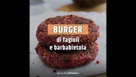 Ricette vegane | burger di fagioli e barbabietola