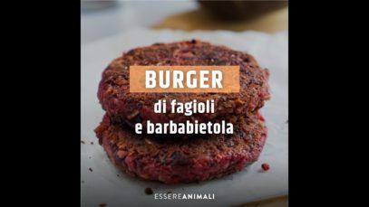 Ricette vegane   burger di fagioli e barbabietola