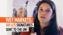 Animal Equality Delivers Thousands of Signatures to U.N. Urging Ban on Live Animal at Wet Markets