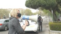 Protesta frente al Ministerio de Agricultura contra la exportación de animales